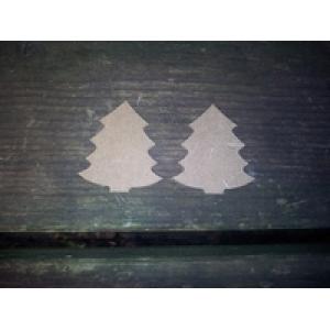 MD13 MDF Mini Kerstboom ca. 3 a 4 cm