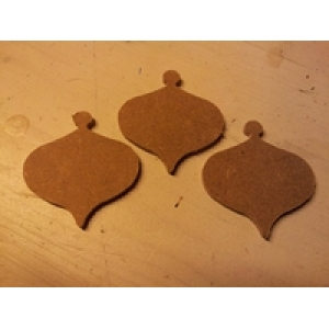MD15 MDF Mini kerstbal 2 ca. 3 a 4 cm