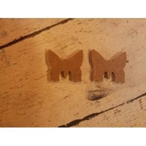 MD17 MDF Mini vlinder ca. 3 a 4 cm