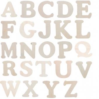 ALF1. MDF Alfabet 10 cm hoog. 3 mm dik