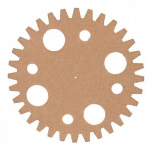 TW8 MDF tandwiel Ø50cm x 3mm cirkels