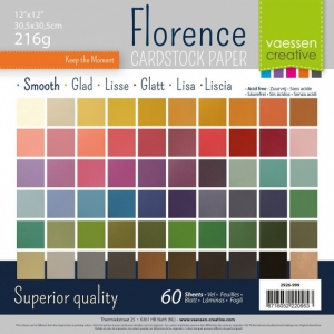 Florence • Cardstock smooth multipack 30,5x30,5cm Assorti