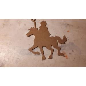 MDF 226 MDF Sinterklaas op paard 20 cm
