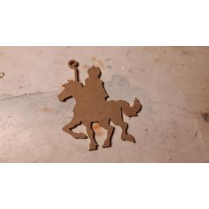 MDF 174 Sinterklaas op paard 10 cm