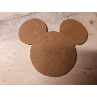 MDF 176  Mickey Mouse hoofd ca. 10 cm