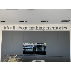 Voorbeeld MDF Letters:  It's all about making memories